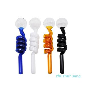 Glass Pipes Curved Glass Oil Burners Pipes 14 Cm Length 1 .5cm Diameter Ball Balancer Water Pipe Smoking Pipes