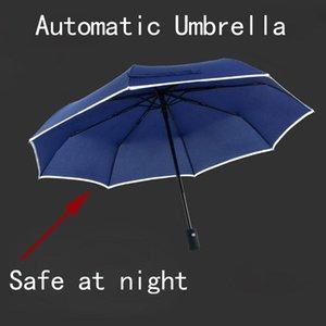 Matic réfléchissant Parapluie pliant pluie Femmes Hommes Guarda Chuva Paraguas Plegable Mujer Parasol Guarda Sol Noir Guarda Chuva bbyYqB bdetoys