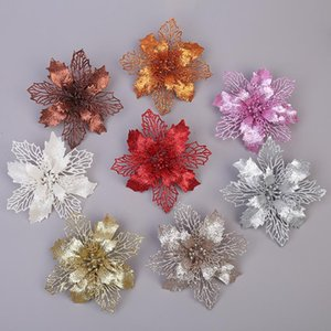16 cm Noel Çiçek Noel Ağacı Süslemeleri Çiçek Düğün Süslemeleri Çiçek Noel Kolye Süslemeleri 15 Renk OWB2774