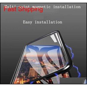 Для iPhone XS Max Case Case Второе поколение Двухстороннее стекло Магнитная металлическая каркас для телефона Case поддерживает 2 шт. Доставка / оптовая продажа F7 DTM9P