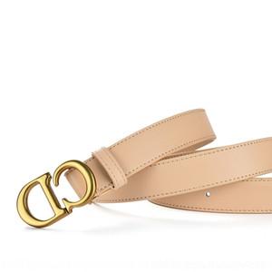 CHxC Zuer d Home maison NouveauCD haut de la couche Zuer hommes hommes nouvelle ceinture b miroir d'or peau de vache design en cuir de vache mode ceinture ceinture élastique fas