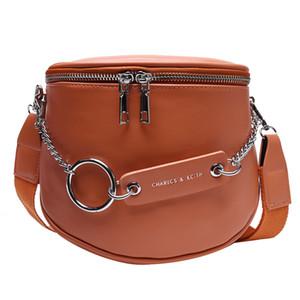 Cintura Big Capacity PU pelle catena di metallo delle donne Somma Per pacchetto di Fanny Bananka moda selvaggia Satchel Belly Banda Marsupio Q1107