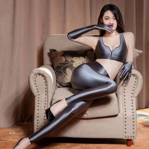 Sexy Women Shiny Pencil Pant Oil Glossy Candy Color Smooth Pencil Pants Sexy Erotic Lingerie Pants Sexy Tight Smooth Dance