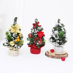Mini Christmas Tree with Cute Festival Decoration Accessories Christmas Shopping Mall Window Home Table Exquisite Decoration