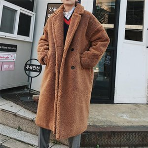 Men Winter High Quality Thicken Wool Blends Coat Men X-Long Sections Woolen Warm Coat Teddy Casual Overcoat
