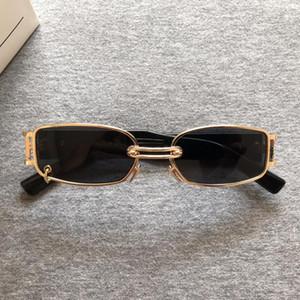 2020 nagelneue koreanische GM Designer-Sonnenbrillen Personality Frauen Metall Sonnenbrille Classic Lady Kleiner Rahmen Retro-Sonnenbrille GW002