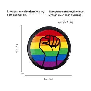 diritti degli omosessuali pugno smalto perni del risvolto tutti sono uguali regalo Spille Pin circolari moda Badge per Amici Jewelry