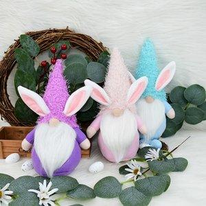 Osterhase Puppe Cartoon Schöne Eier Kaninchen Fröhliche Ostern Geschenke für Home Table Ornament Hochzeit Geburtstagsfeier Favors Kinder Geschenke