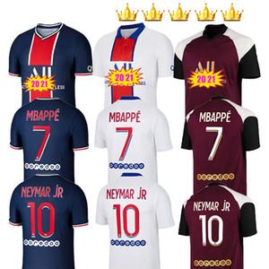 2020 2021 Maillots de pied 19 20 21 soccer jersey enfants ICARDI PA P MBAPPE Marquinhos S Neymar g RIS chemisettes jr jerseys kits chemise de football