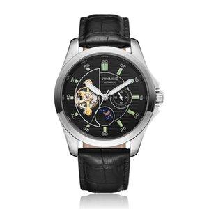 Negocio del reloj del reloj del reloj mecánico masculino de piel suave Gorben Banda automático de múltiples funciones de los hombres de lujo