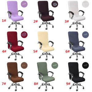 S M L Office Chair Cover Universal Size Elastic Waterproof Rotating Chair Covers Modern Stretch Arm Chair Slipcovers
