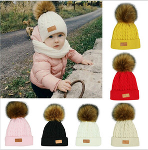 2020 Autumn Winter Children Knitted Hat Beanie Newborn Warm Crochet Hats Fashion Kids Boys and Gilrs Casual Outdoor Travel Skull Cap E101002