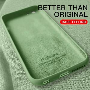 Casos blandos delgados traje iPhone 7 8 6plus SE2 Cubierta de líquido original CUCHE CUCHA CUCHA CAPA PARA APPLE X 11 12 PRO MAX XR