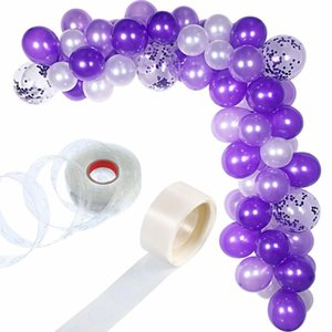 METABLE 100 Pieces Balloon Garland Kit Balloon Arch Garland for Wedding Birthday Party Decorations (White Purple) T200624