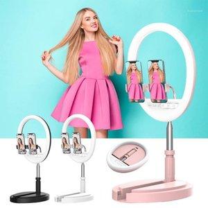 Fotografia Iluminação Telefone Anel de Telefone Stand Foto LED Selfie Bluetooth Ring Ring Light Luminária para Tiktok YouTube Maquiagem Live1