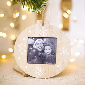 Creative Photo Frame Decorations Wooden Table Decor Christmas Mini Kids Home New Pendant DIY Simple Style Modern Drop Ornaments V
