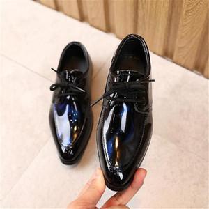 Jungen Lederschuhe Herbst 2020 Britischer Stil Mode Niedrige Ferse Student Performance Spitz Kindern Schuhe