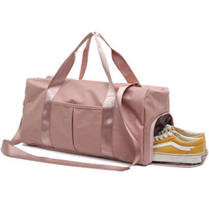 Outdoor Waterproof Nylon Sports Gym Bags Men Women Training Fitness Travel Handbag Yoga Mat Sport Bag With Shoes Com jllWno