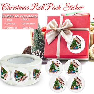 Quarantine Survivor Christmas Stickers Circle Paper Sealing Label Stickers for Bakery Packaging Decoration Gifts Stationery OOA9692