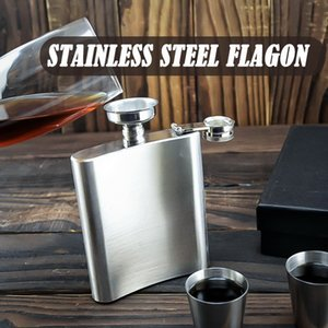 New Portable Stainless Steel Hip Flask Flagon and Funnel Quality Wine Whisky Pot Drinkware Outdoor Pocket Flasks Alcohol Bottle