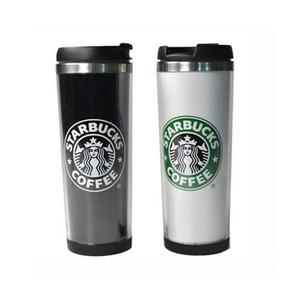 Starbucks 14oz 420ml Stainless Steel Mug Flexible Cups Coffee Tumblers Travelling Mugs Tea Wine