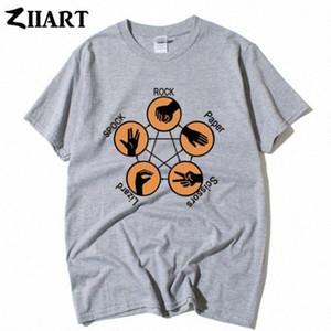 Rock Paper Scissors Lizard Spock The Big Bang Theory Paar Kleidung Mann Jungen männlich O-Ausschnitt Kurzarm-T-Shirt Spaß-T-Shirt Buy Online T 9C27 #
