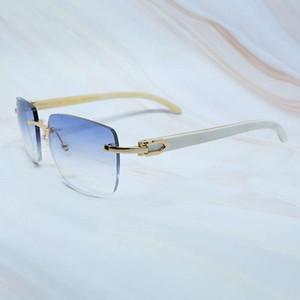 Ienbel Grand Carré Faire designeur Carter Lunettes Femmes Femmes Buffalo Horns Verre Vintage Sunglasses Men Lunettes