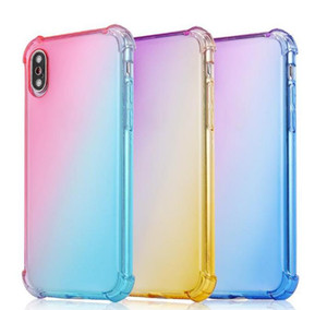 2021 DZ77 Fashion New Protective Gear Iphone X Gradient Colors Anti Shock Airbag Clear Cases For iPhone 12 Mini 11 Pro Max XS 8 7Plus 6S