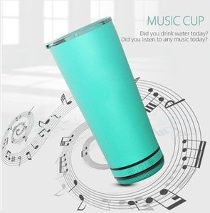 Taza de altavoz Al aire libre portátil impermeable alto altavoz de vidrio Taza de cerveza CHAMPAGNE MUSIC CARGA USB CON TAMBLANDO LID LJJP723