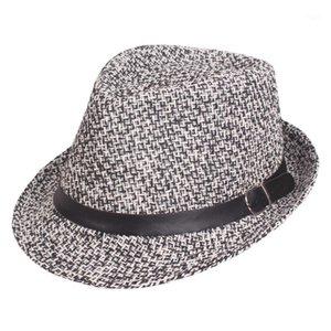 Plaid Summer Sun hat casual vacation hat women Panama Beach jazz hats Fedoras For Men Women1