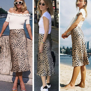 Women Leopard Print Casual Long Evening Party Cocktail Dress Mini Skirt