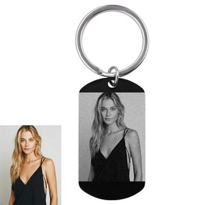 Custom Photo Name Keychain 316l Stainless Steel Chian Engraved Picture Word Ai Files Key Ring Personalized Gift for Friends