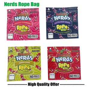 Nerds Rope Bites Bag Newest Empty Square Gummy Medicated Mylar Bag Packaging Pouch for Dry Herb Tobacco Flower Storage STOCKING NOW