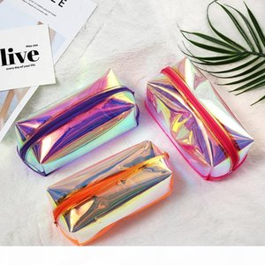 Fashion Women Laser Cosmetic Bag Small Holographic Cosmetic Makeup Pouch Ladies Laser Zipper Purse Bag Toiletry Cases