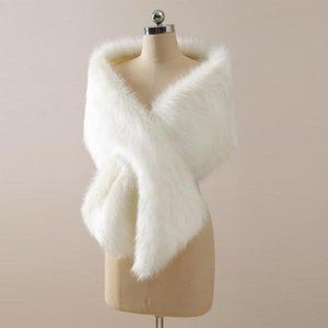 2020 Winter Coat Bridal Faux Fur Wraps Warm shawls Outerwear Korean Style Women Jacket Prom Evening Party CPA3307