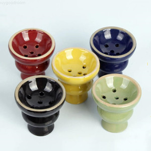 pipa de agua tazón de cerámica y accesorios de pan