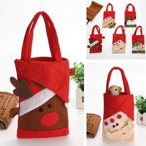 Christmas Hanging Bag Snowman Santa Claus Deer Bear Gift Bag Cute Designs Candy Christams Felt Bag Christmas Tree Decor Pendant GGE2019