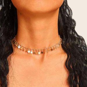 Diomedes Einfache Mode Persönlichkeit Fünfzeige Stern Quaste Legierung Anhänger Halskette Damen Schmuck Großhandel Drop Shipping Jun11