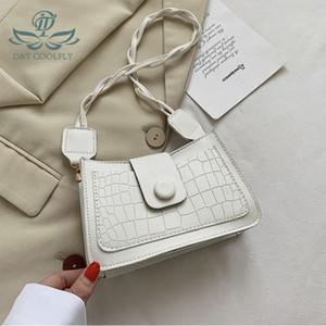 D&T 2020 New Fashion Tiny PU Shoulder Bag Women Handle Multi-Function Solid Color Casual Dress Luxury Lady Cute Hasp Zipper Bag