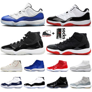 Nike Air Retro Jordan 11 Jordan Retro 11 Stock x Bred Concord 11s Jumpman 11 donne Mens Basketball Shoes 25 ° anniversario delle scarpe da tennis