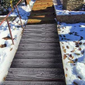 1Pcs DIY Mold Wood Garden Pavement Mold Stepping Walk Path Concrete Paving Mould