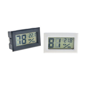 Black White Mini Digital LCD Environment Thermometer Hygrometer Humidity Temperature Meter In room refrigerator icebox Free Shipping