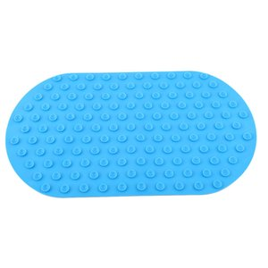 Brand Baby Anti-Slip Bath Mat 41*24cm Seat Powerful Suction Silicone Non-Toxic Baby Tub 5 Colors Newborn Bath Mat 201019