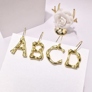 High quality fashion brand stainless steel earrings 18K26 letter earrings for hipsters and fashion lovers gift come with dust bag