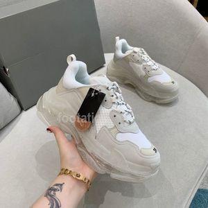 باريس عارضة الأحذية واضحة وحيد ثلاثية الأحذية الترفيه أبي الأحذية منصة chaussures أحذية رياضية للرجال النساء خمر كاني القديم الجد المدرب