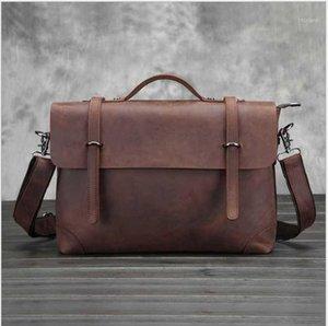 Xiyuan جديد جلد طبيعي رجل رسول حقائب خمر جلد البقر حقيبة الكتف الصغيرة للرجال الرجال حقيبة crossbody حمل lady1