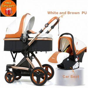 Belecoo multifuncional cochecito de bebé 2 en 1 carro alto paisaje del cochecito de niño Suite para La mentira y de estar con 5 regalos LIhJ #