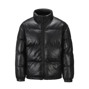 Preto Inverno 2021 New PU algodão acolchoado EM ESTOQUE Jacket Vestuário Homens Roupa