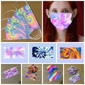 Tres capas de teñido desechable mascarilla de las máscaras de protección de adultos con Melt-Spray impresión personalizada Máscaras de diseño RRA3818