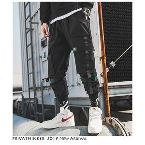 Privatherker Men HiP Hop Ceinture Cargo Pantalon Homme Patchwork Complet Japonais Streetwear Joggers Pantalons Designer Harem Pantalon 201116